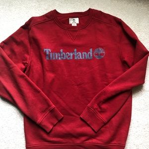 Excellent condition, red Timberland sweatshirt